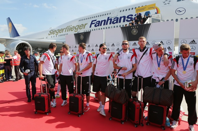 German National Football Team in Berlin_14.7.14_1 year